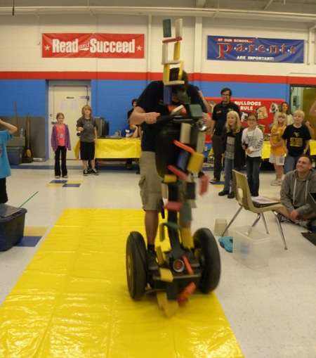 COSI's Segway unleashing potential energy.